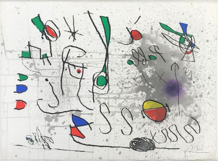 Acquaforte E Acquatinta Miró - UNTITLED (FROM HOMAGE TO PICASSO)