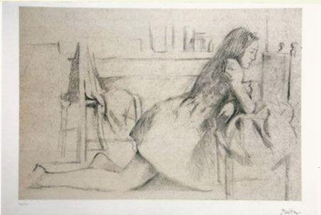 Litografia Balthus - Untitled I (meditation)