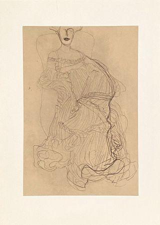 Litografia Klimt - Untitled II.XIV