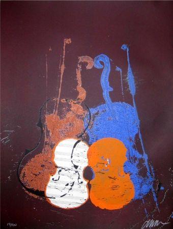 Serigrafia Arman - Untitled (Mélodie)