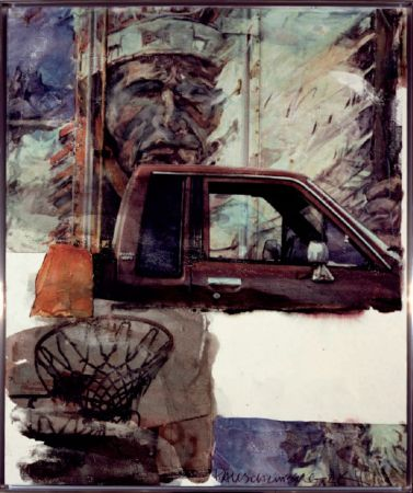Non Tecnico Rauschenberg - Untitled (Native American with Truck)