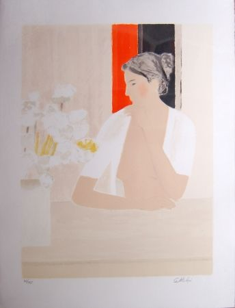 Litografia Cathelin - Untitled (Portrait)