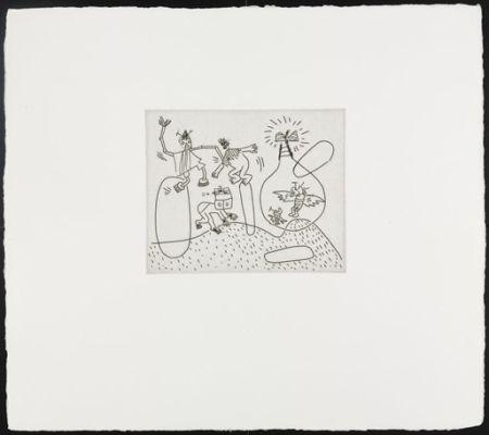 Serigrafia Haring - Untitled (with Sean Kalish)