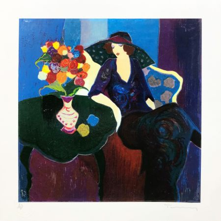 Rilievo Tarkay - UNTITLED (WOMAN WITH HAT)