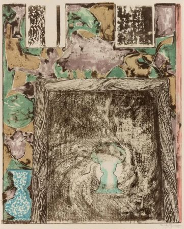 Litografia Johns - Unttitled