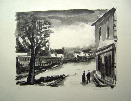 Litografia Vlaminck - Us, la Place