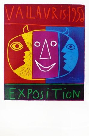 Linoincisione Picasso - Vallauris 1956