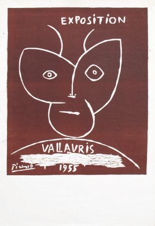 Linoincisione Picasso - Vallauris 55
