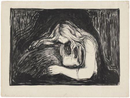 Litografia Munch - Vampire II