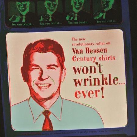 Serigrafia Warhol - Van Heusen (Ronald Regan) (FS II.356)