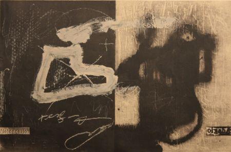 Litografia Tàpies - Variations 13