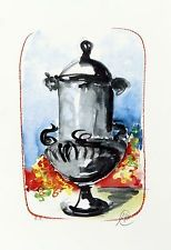 Serigrafia Lüpertz - Vase 2