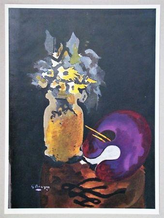 Litografia Braque (After) - Vase de fleurs jaunes