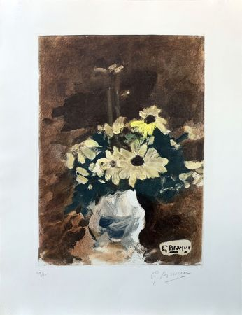 Acquaforte Braque (After) - Vase de fleurs jaunes