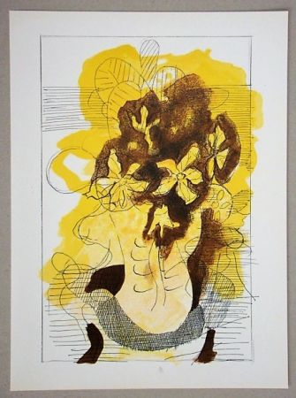 Litografia Braque (After) - Vase jaune