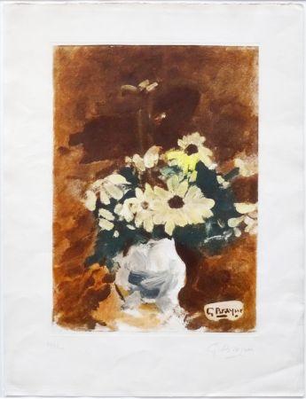 Acquatinta Braque - Vases Aux Fleurs Jaunes