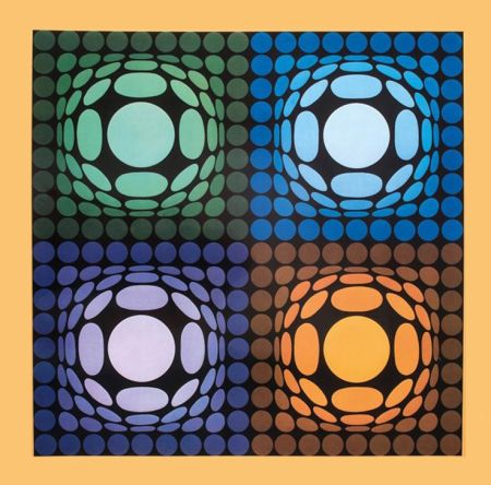 Rotocalcografia Vasarely - '' VEGA BI ARCT ''