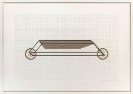 Litografia Piacentino - Vehicle sculpture. Wall sculpture (e)