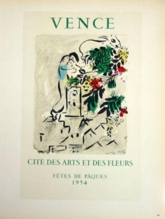 Litografia Chagall - Vence - Cité des Fleurs