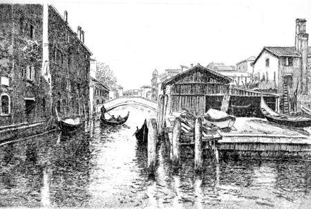 Acquaforte Cotugno  - Venezia, squero di San Trovaso