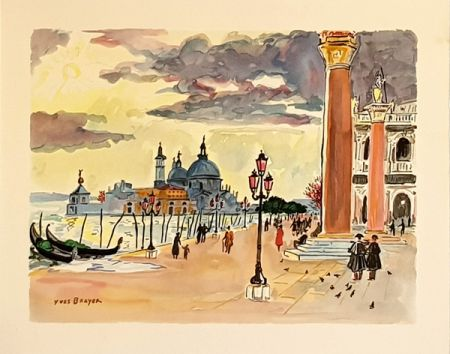 Litografia Brayer - Venise