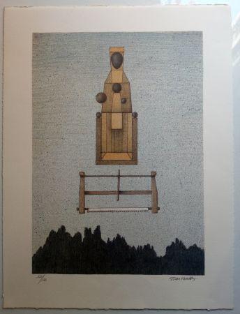 Litografia Subirachs - Verge de Montserrat