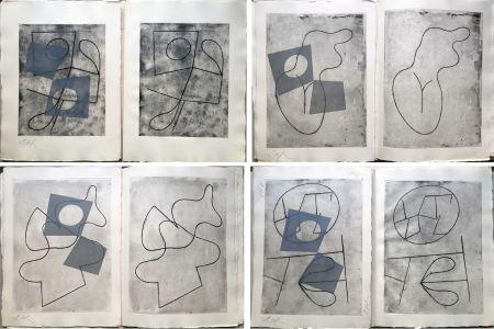 Libro Illustrato Arp - VERS LE BLANC INFINI. Exemplaire unique avec les gravures signées (1960).