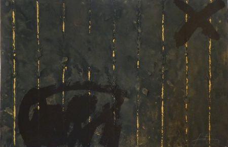Incisione Tàpies - Vertical plegat