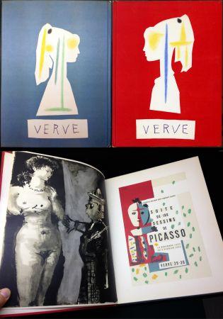 Libro Illustrato Picasso - Verve N° 29-30. Vallauris, Suite De 180 Dessins De Picasso