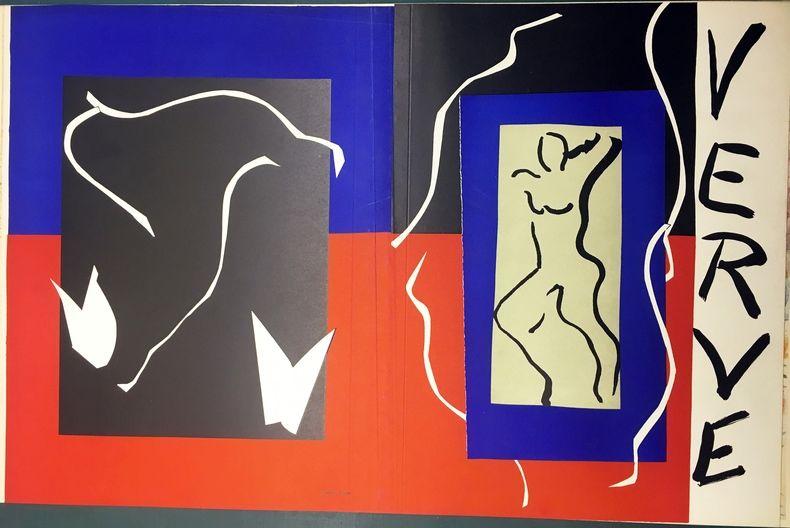 Litografia Matisse - VERVE Vol. I n° 1. COUVERTURE À PLAT À GRANDES MARGES