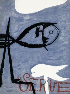 Libro Illustrato Braque - VERVE VOL. I n° 2. (Couverture de G. Braque)