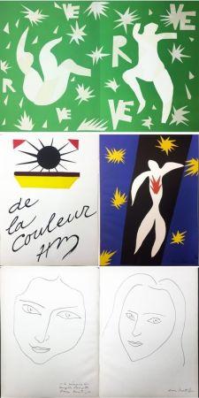 Libro Illustrato Matisse - VERVE. Vol. IV, No. 13. DE LA COULEUR. La Chute d'Icare (1945).