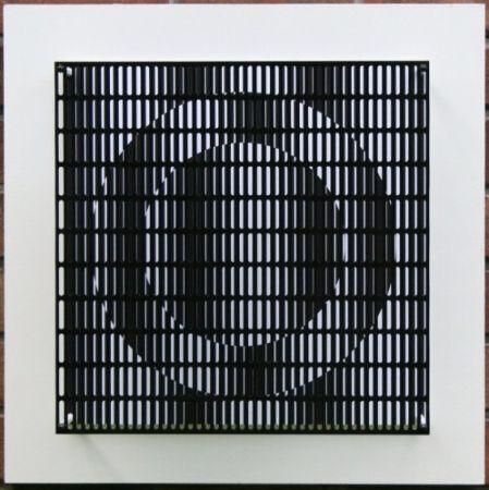 Incisione Su Legno Asis - Vibration cercles noir et blanc