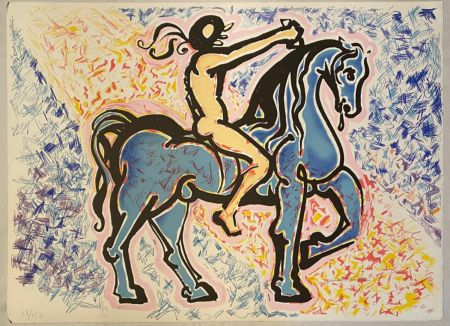 Litografia Dali - Victoire de l'homme primitif