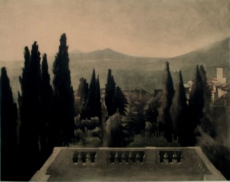Maniera Nera Ilsted - View from Villa D'Este