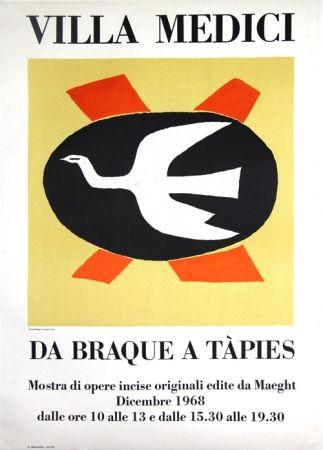 Litografia Braque - Villa Medici  Da Braque A Tapiès