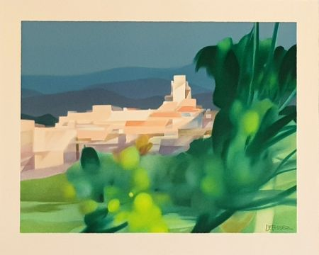 Litografia Defossez - Village Mediterannen