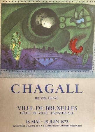 Litografia Chagall (After) - VILLE DE BRUXELLES