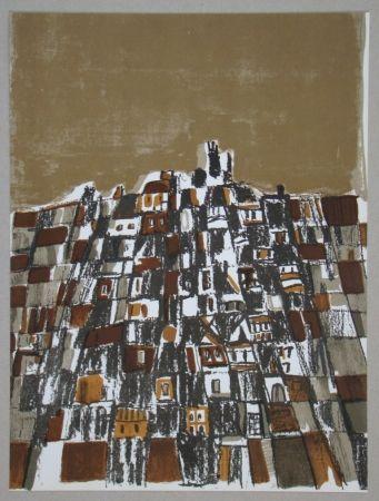 Litografia Vieira Da Silva - Ville espagnole