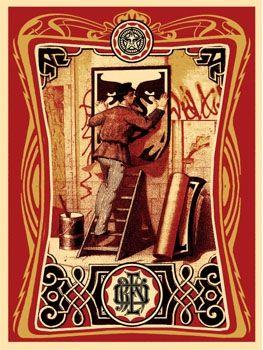 Serigrafia Fairey - Vintage Paster