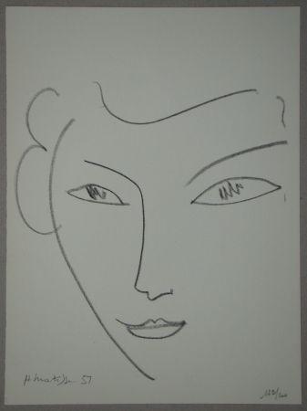 Litografia Matisse - Visage