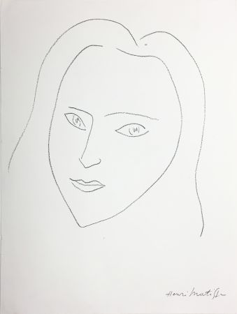 Litografia Matisse - VISAGE (1943)