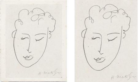 Litografia Matisse - VISAGE DE FEMME. Pour Jules Romains : Pierres Levées, poèmes. Paris 1948