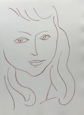 Litografia Matisse - Visages II