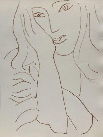 Litografia Matisse - Visages VIII