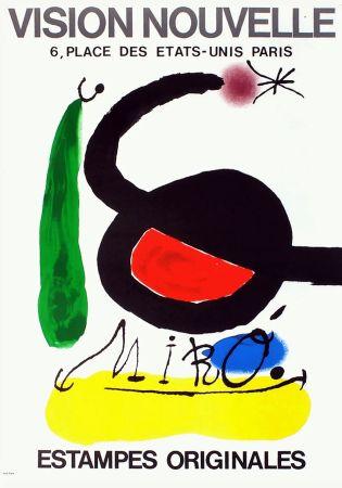 Manifesti Miró - VISION NOUVELLE. Estampes originales. Exposition de 1967.