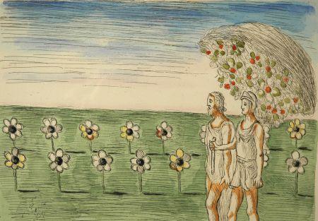 Acquaforte De Chirico - Visione misteriosa