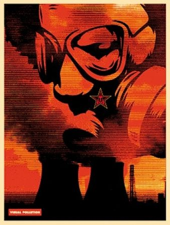 Serigrafia Fairey - Visual Pollution Gas Mask