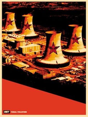 Serigrafia Fairey - Visual Pollution Smoke Stacks