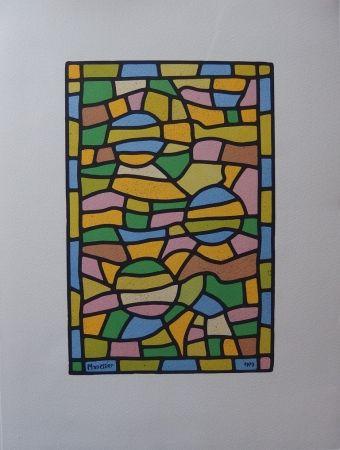 Litografia Manessier - Vitrail